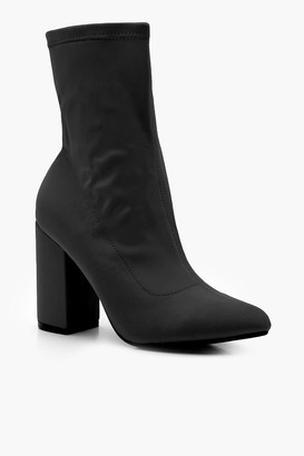 boohoo Stretch Pointed Toe Sock Boots