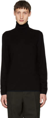 Joseph Black Merino Wool Turtleneck