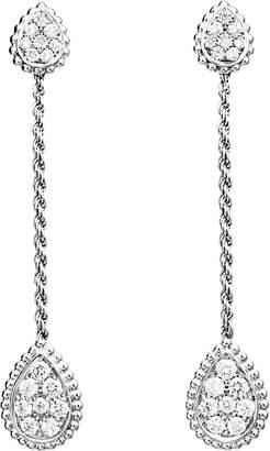 Boucheron Serpent Bohème 18ct white-gold and diamond drop earrings