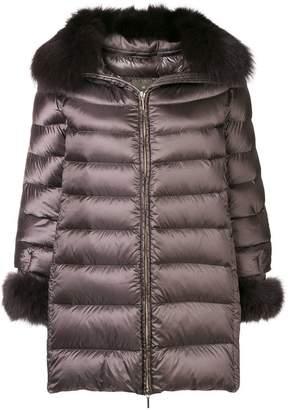Hetregó fur-trimmed down coat