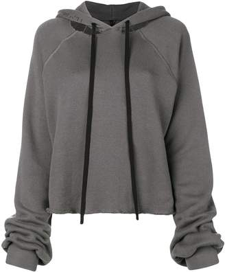 Unravel Project cropped destroyed hoodie