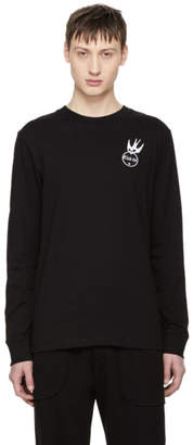McQ Black Long Sleeve Swallow Badge T-Shirt