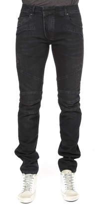 Pierre Balmain Slim-Fit Moto Jean