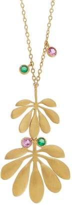 Ileana Makri EYE M by Tropical Double Leaf Necklace