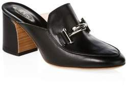 Tod's Double T Leather Clogs