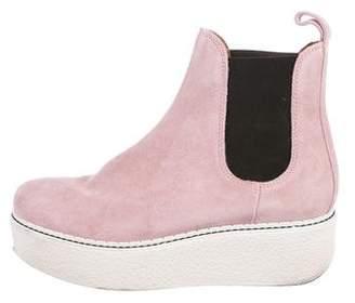 Flamingos SSENSE Exclusive Grey Suede Gibus Platform Boots 3KJBdMZu