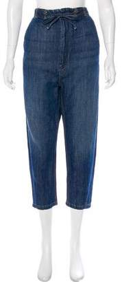 Vince Chambray High-Rise Cropped Jeans w/ Tags