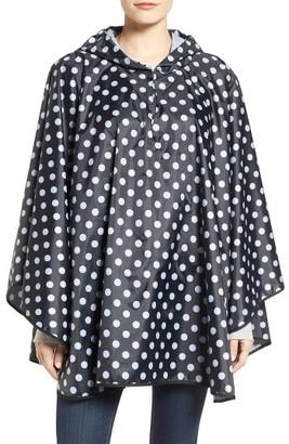 Women's Collection Xiix Polka Dot Rain Poncho $38 thestylecure.com