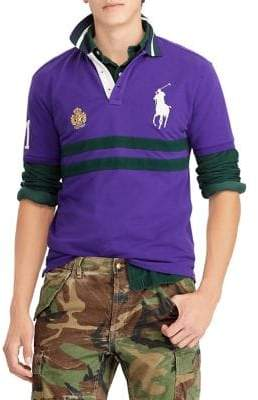 Polo Ralph Lauren Basic Mesh Striped Polo Shirt