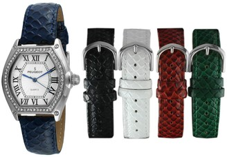 Peugeot Women's Watch & Interchangeable Leather Band Set