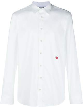 Moschino embroidered heart shirt