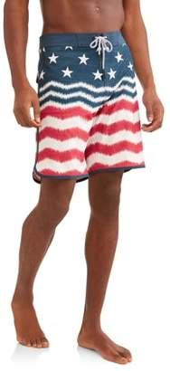 George Men's Americana Fixed Waist Boardshort