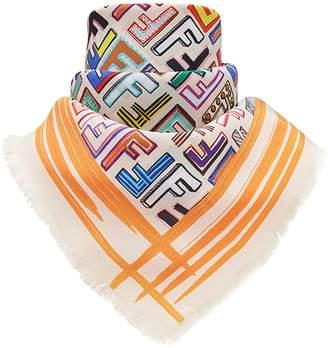 Fendi geometric logo square scarf