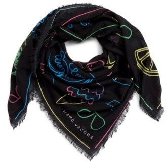 Women's Marc By Marc Jacobs Neon Lights Wool Shawl $195 thestylecure.com