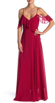 Yumi Kim Because of You Solid Ruffled Maxi Dress