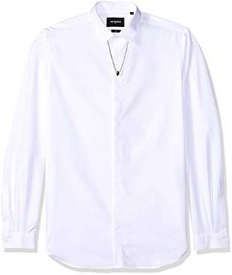 The Kooples Men's Button Down Faille Shirt with Removable Necklace