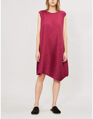 Pleats Please Issey Miyake Flow asymmetric-hem pleated dress