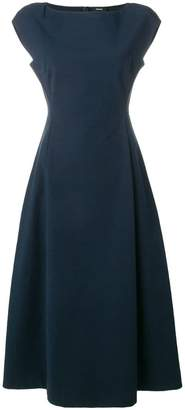 Theory short-sleeve flared dress