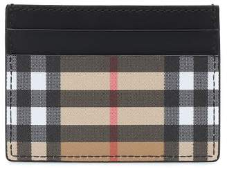 Burberry Check leather card holder