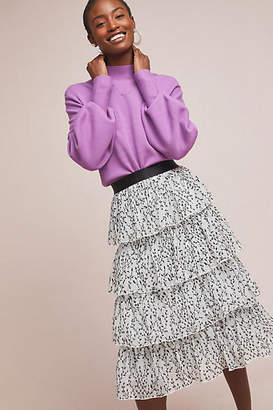 Eva Franco Grace Tiered Midi Skirt