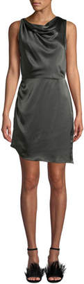Amanda Uprichard Arielle Cowl-Neck Silk Short Dress
