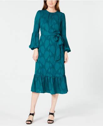 Michael Kors Jacquard Flounce Dress