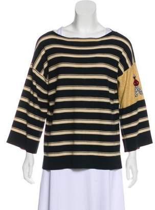 Sonia Rykiel Embellished Stripe Top