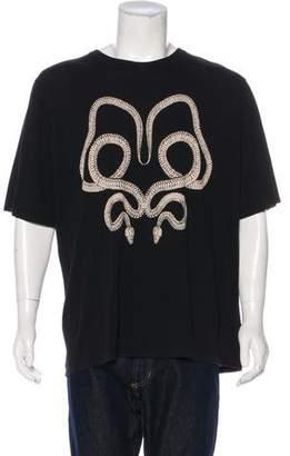 Saint Laurent 2016 Snake Print T-Shirt