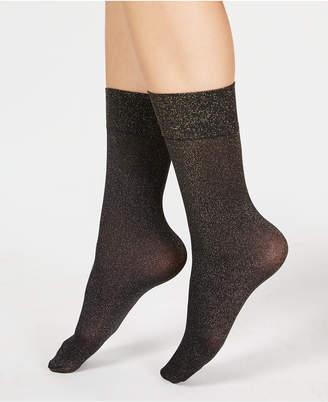 Spanx Gold-Tone Shimmer Half-Calf Socks