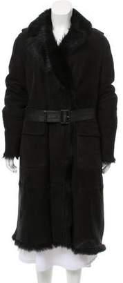 Burberry Long Shearling Coat