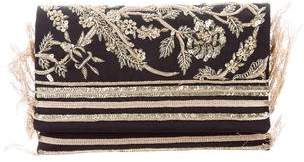 Oscar de la Renta Embroidered Faille DeDe Bag w/ Tags