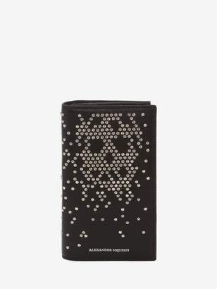 Alexander McQueen Studded Leather Folded Long Wallet