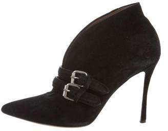 Tabitha Simmons Suede Pointed-Toe Boots