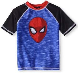 Spiderman Toddler Boy Rashguard Swim Top