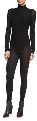 DKNY Full-Length Turtleneck Bodysuit, Black $798 thestylecure.com