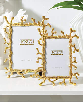 Twos Company Golden Coral Set of 2 Photo Frames in Gift Box Includes 2 Sizes