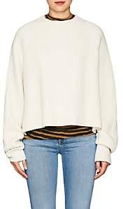 Proenza Schouler Women's Side-Slit Wool-Blend Crop Sweater - Offwht