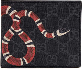 Gucci Kingsnake Wallet Monogram Supreme GG (8 Card Slots) Black