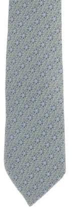 Hermes Silk Snowflake Print Tie