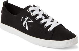 Calvin Klein Black Monna Logo Low-Top Sneakers
