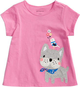 First Impressions Baby Girls French Bulldog Graphic T-Shirt