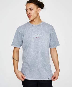 HUF Worldwide Acid Wash S Short Sleeve T-shirt Grey