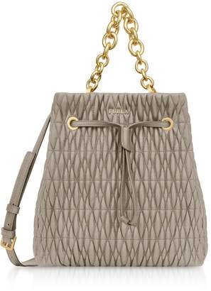 Furla Quilted Nappa Stacy Cometa S Drawstring Bucket Bag