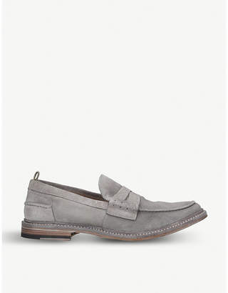 65e239ee3b27 Officine Creative Warwick suede penny loafers