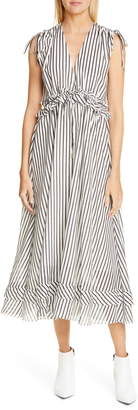 Robert Rodriguez Mariel Stripe Midi Dress