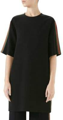 Gucci Stretch Viscose Cady Web Tunic Top