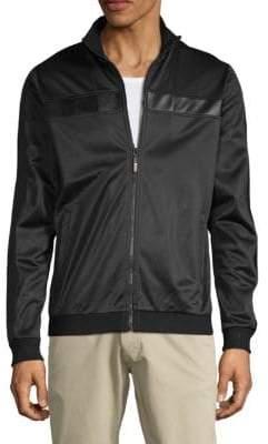 Roberto Cavalli Perforated Long-Sleeve Jacket