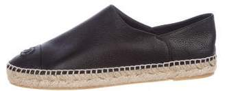 Chanel CC Leather Espadrilles