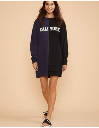 Cynthia Rowley Embroidered Caliyork Sweatshirt Dress