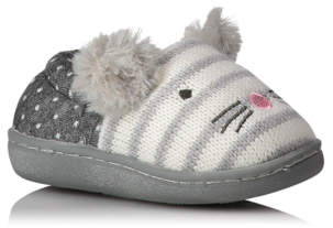 George Mouse Face Knitted Slippers
